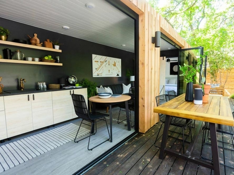 Woodsy Shipping Container Home